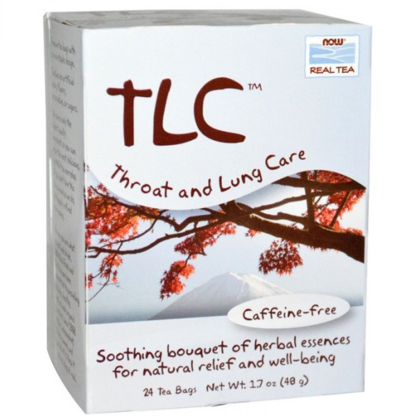 TLC Throat & Lung - 24 Tea Bags, Now Real Tea