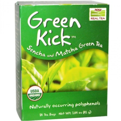 Βιολογικό Green Kick Organic - 24 Tea Bags, Now Real Tea