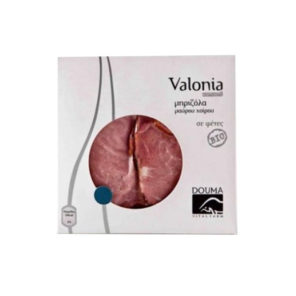 Βιολογική Μπριζόλα Καπνιστή Μαύρου Χοίρου Valonia Bio 150-200γρ., Ελληνική, Douma Vital Farm