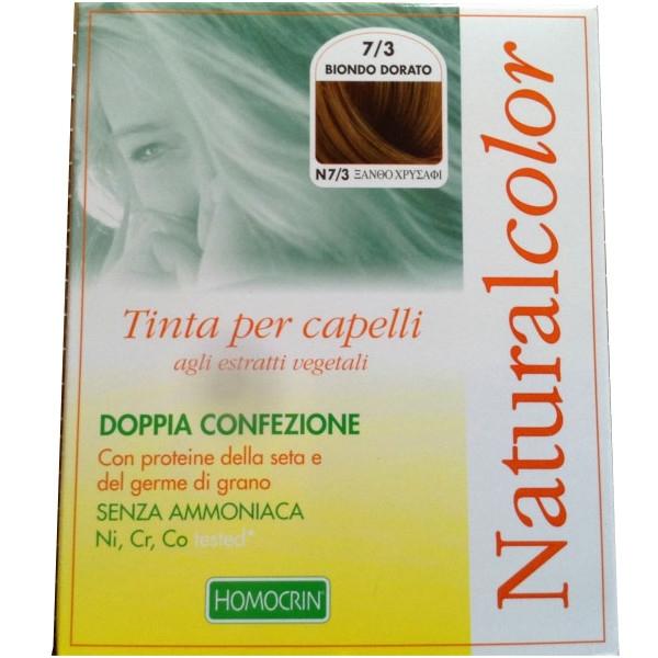 Bαφή Mαλλιών Φυτική Χρυσόξανθο 7,3 Naturalcolor, Specchiasol