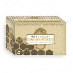 Σαπούνι Ελαιολάδου Χειροποίητο με Μέλι & Γάλα 135γρ., Ελληνικό, Malama