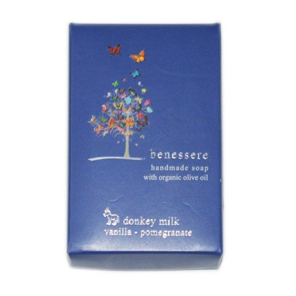 Σαπούνι με Γάλα Γαϊδούρας Βανίλια & Ρόδι Benessere, Ελληνικό, Electra's Secrets