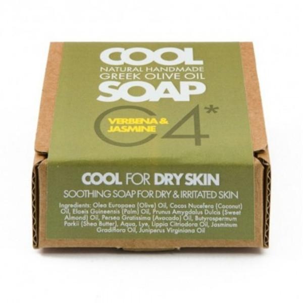 Φυσικό Σαπούνι Ελαιόλαδου Νο4 με Αιθέρια Έλαια Λουϊζας Γιασεμιού & Κέδρου, Ελληνικό, Cool Natural Greek Soap