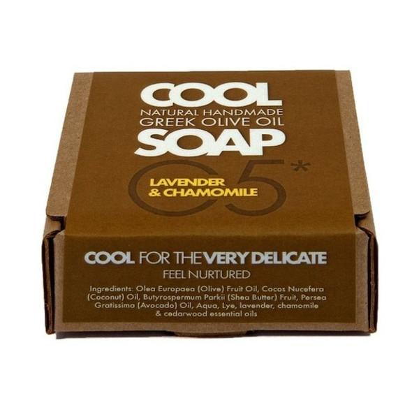 Φυσικό Σαπούνι Ελαιόλαδου Νο5 με Αιθέρια Έλαια Λεβάντας Χαμομηλιού & Κέδρου, Ελληνικό, Cool Natural Greek Soap