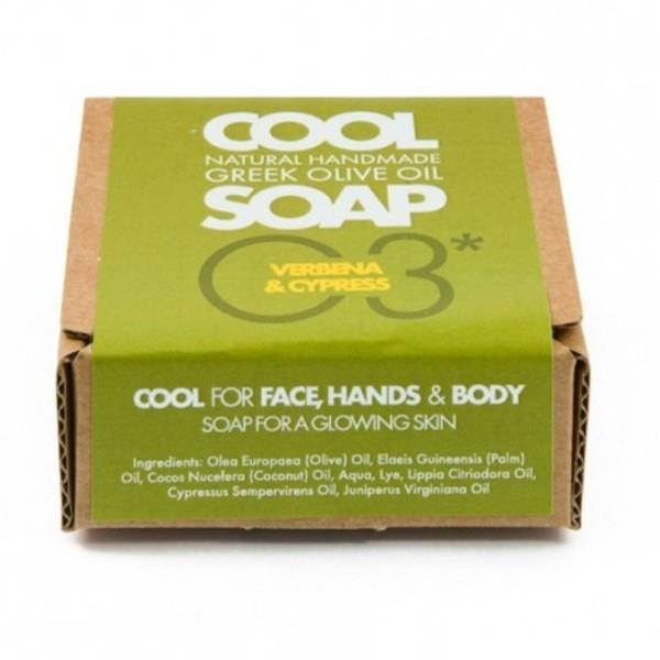 Φυσικό Σαπούνι Ελαιόλαδου Νο3 με Αιθέρια Έλαια Λουiζας Κυπαρισσιού & Κέδρου, Ελληνικό, Cool Natural Greek Soap