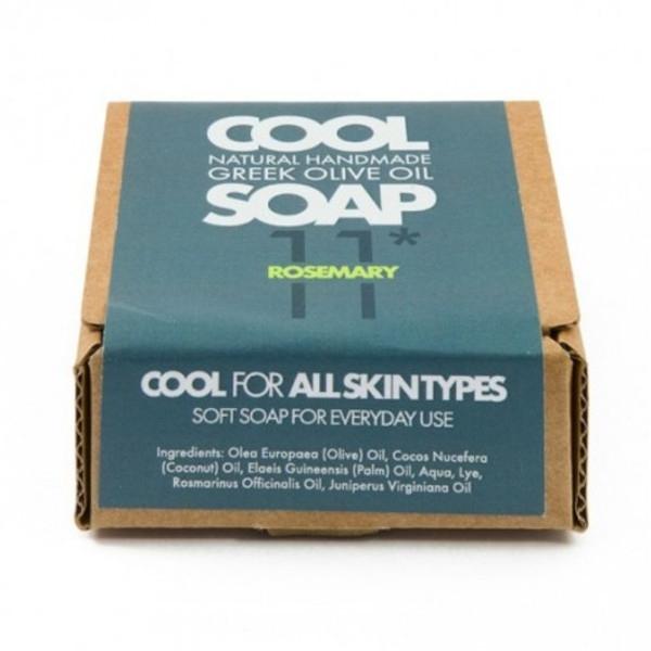 Φυσικό Σαπούνι Ελαιόλαδου Νο11 με Αιθέρια Έλαια Δεντρολίβανου & Κέδρου, Ελληνικό, Cool Natural Greek Soap
