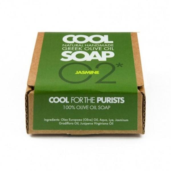 Φυσικό Σαπούνι Ελαιόλαδου Νο2 με Αιθέρια Έλαια Γιασεμιού & Κέδρου, Ελληνικό, Cool Natural Greek Soap
