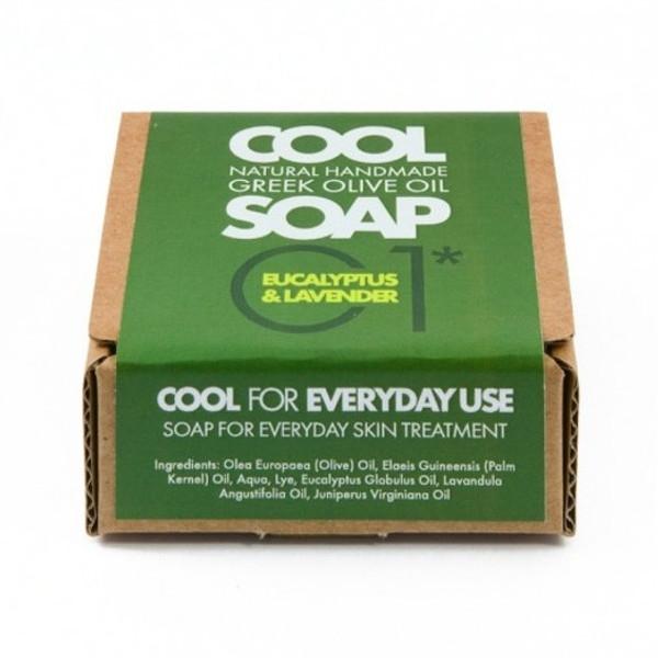 Φυσικό Σαπούνι Ελαιόλαδου Νο1 με Αιθέρια Έλαια Ευκάλυπτου Λεβάντας & Κέδρου, Ελληνικό, Cool Natural Greek Soap