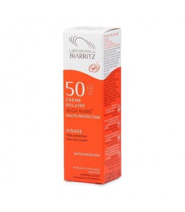 Βιολογική Αντιηλιακή Κρέμα Προσώπου SPF50 Bio 50ml Algamaris, Laboratoires De Biarritz