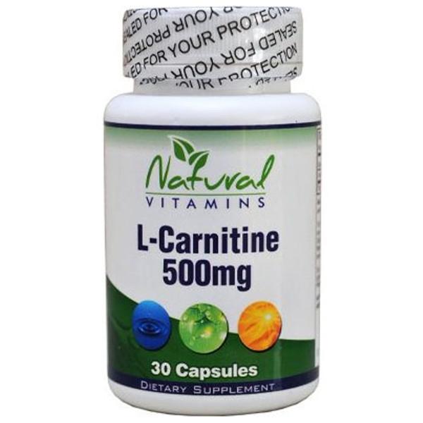 L- Carnitine (Καριντίνη) 30 Caps Natural Vitamins