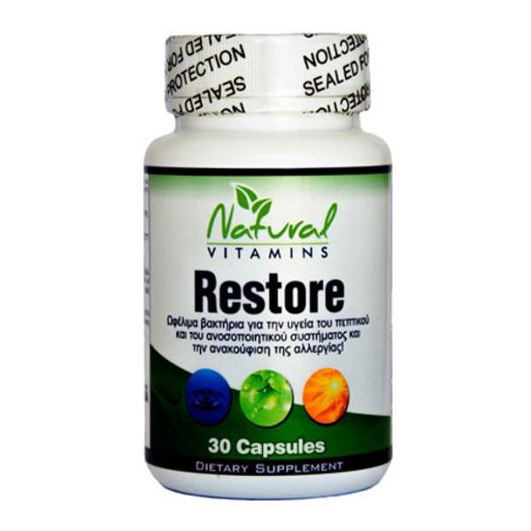 Restore (Ωφέλιμα Βακτήρια) 30 Caps Natural Vitamins