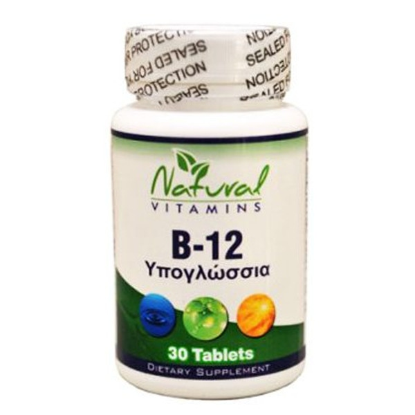 B-12 1000mg 30 Tabs Natural Vitamins