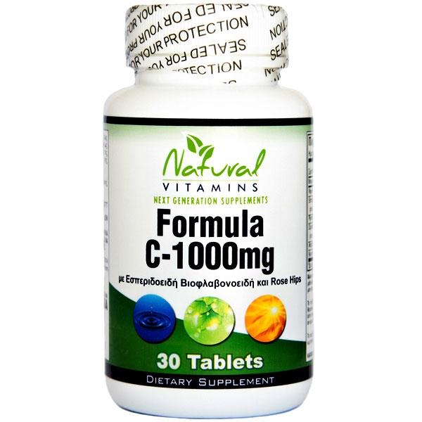 Vitamin C-1000 με Βιοφλαβονοειδή 30 Tabs Natural Vitamins