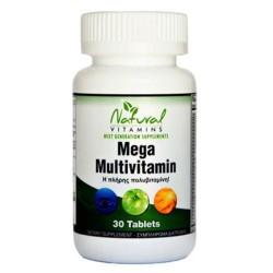Mega Multi - Πολυβιταμίνες 30 Tabs Natural Vitamins
