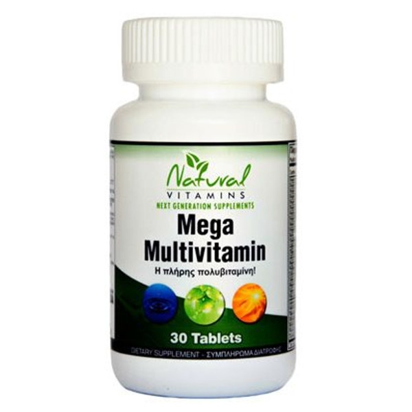Mega Multi - Πολυβιταμίνες 30 Tabs Natural Vitamins