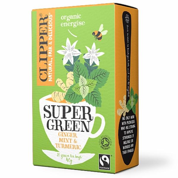 Βιολογικό Τσάι Super Green (Πράσινο) Energise 40γρ. Βio Clipper