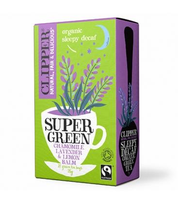 Βιολογικό Τσάι Super Green Sleepy Decaf (Πράσινο Τσάι χωρίς Καφεΐνη) 40γρ. Bio Clipper