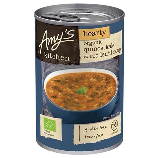 Βιολογική Σούπα με Κινόα, Λάχανο Κέιλ & Κόκκινη Φακή Χωρίς Γλουτένη Bio 408γρ Amys Kitchen