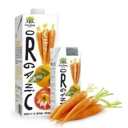Βιολογικός Χυμός από Μήλο Καρότο & Πορτοκάλι 1lt Bio Οικογένεια Χριστοδούλου