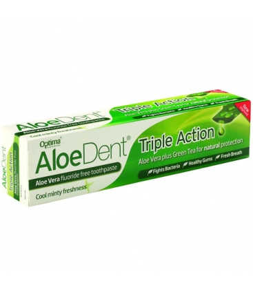 Οδοντόκρεμα Triple Action 100ml AloeDent Optima
