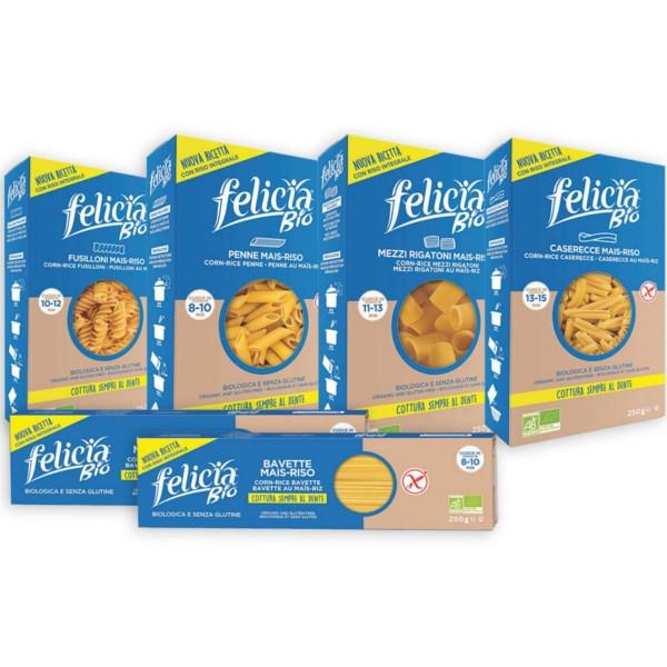 Βιολογικές Βίδες από Καλαμπόκι & Ρύζι Bio 250γρ Felicia
