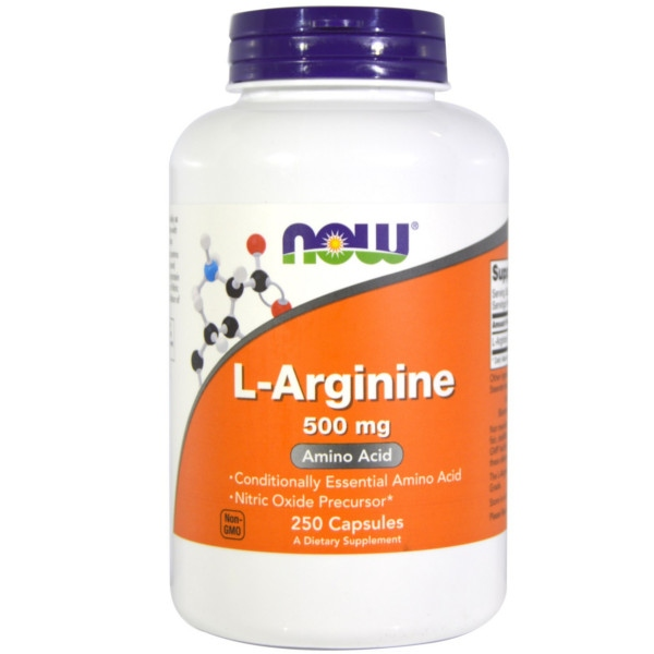 L-Arginine (Αργινίνη) 500mg 100caps Now Foods