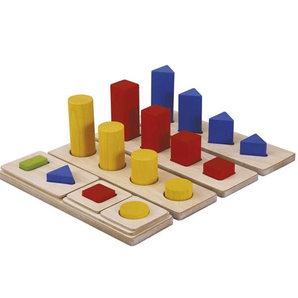 Ταξινόμηση (Σετ 4 τμχ) Plantoys Οικολογικό, Ξύλινο, Εκπαιδευτικό Παιχνίδι