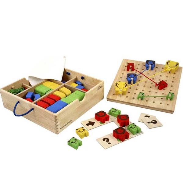 Σετ Ταξινόμησης Ζώων Plantoys Οικολογικό, Ξύλινο, Εκπαιδευτικό Παιχνίδι.