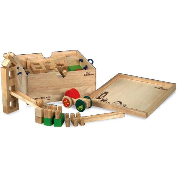 Κατασκευαστικό Υλικό - Μεγάλο Μέγεθος Plantoys Οικολογικό, Ξύλινο, Εκπαιδευτικό Παιχνίδι