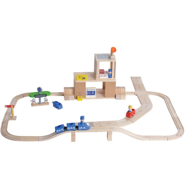 Οικολογικό Οδικό & Σιδηροδρομικό Σετ Plantoys Οικολογικό, Ξύλινο, Εκπαιδευτικό Παιχνίδι