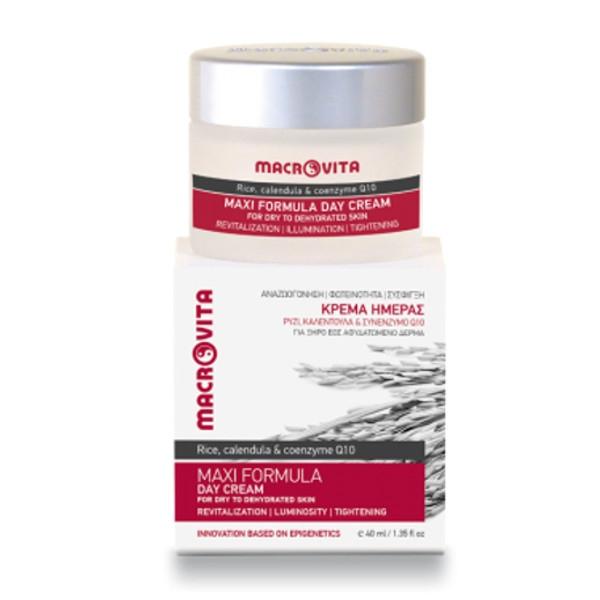 Κρέμα Ημέρας Maxi Formula για Ξηρό ως Αφυδατωμένο Δέρμα 40ml Macrovita