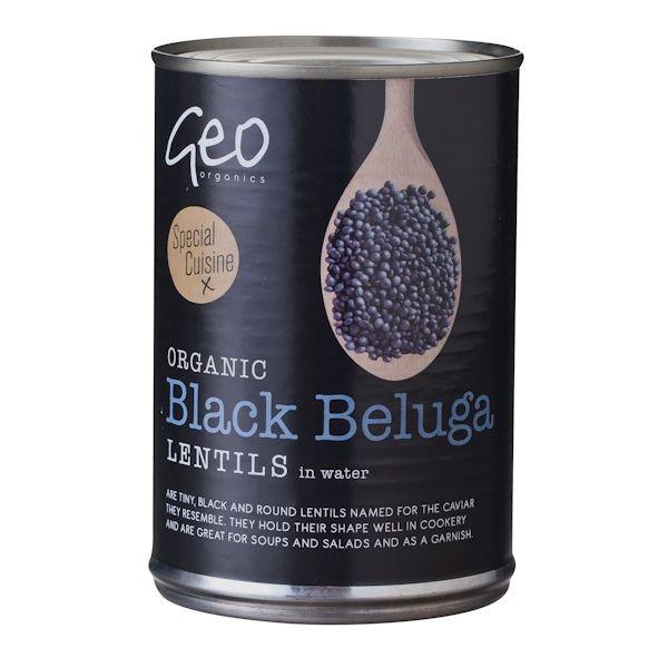 Βιολογικές Μαύρες Φακές Belunga Bio 400γρ., Geo Organics