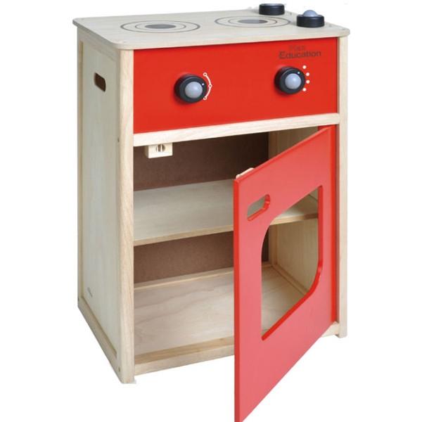 Κουζίνα (Κόκκινη) Plantoys Οικολογικό, Ξύλινο, Εκπαιδευτικό Παιχνίδι
