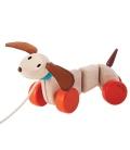 Χαρούμενο Σκυλάκι (Συρρόμενο) Plantoys Οικολογικό, Ξύλινο, Εκπαιδευτικό Παιχνίδι
