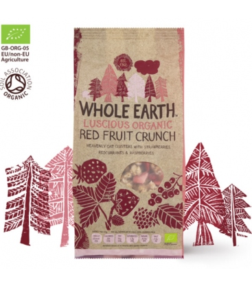 Βιολογικά Δημητριακά Red Fruit Crunch ΒΙΟ 450γρ Whole Earth