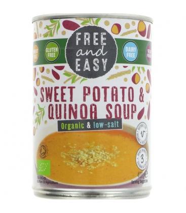 Βιολογική Σούπα με Γλυκοπατάτα & Κινόα 400γρ Bio Free & Easy
