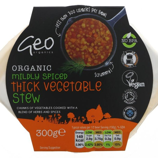Βιολογικά Ανάμεικτα Λαχανικά Μαγειρεμένα 300γρ Bio Geo Organics