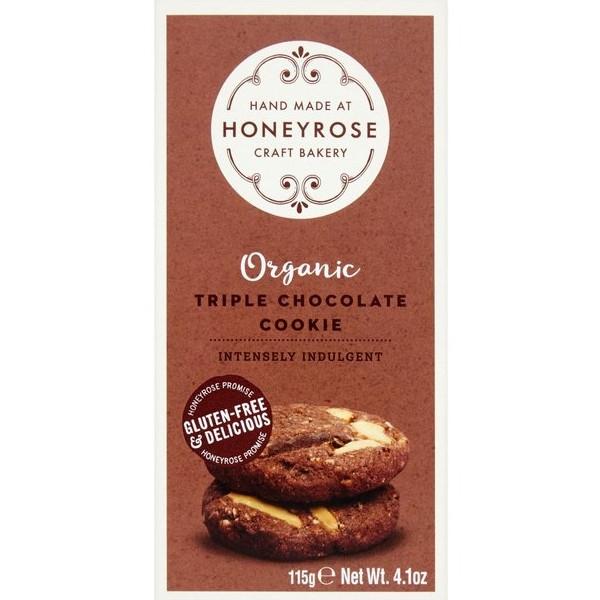 Βιολογικά Μπισκότα Triple Chocolate 115γρ Bio Honeyrose
