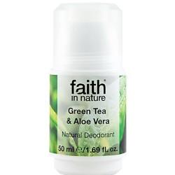 Αποσμητικό με Αλόη & Πράσινο Τσάι 50ml Faith in Nature