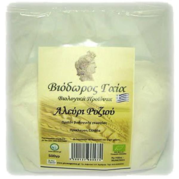 Βιολογικό Αλεύρι Ρυζιού 500γρ., Bio Ελληνικό Βιοδώρος Γαία