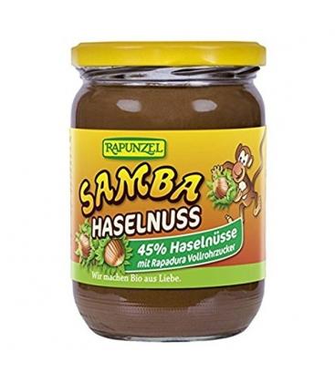 Βιολογικό Επάλλειμα Φουντουκιού Samba, 500γρ Bio Rapunzel