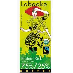 Σοκολάτα Πρωτεΐνης με 75% Κακάο Βio 65γρ Labooko