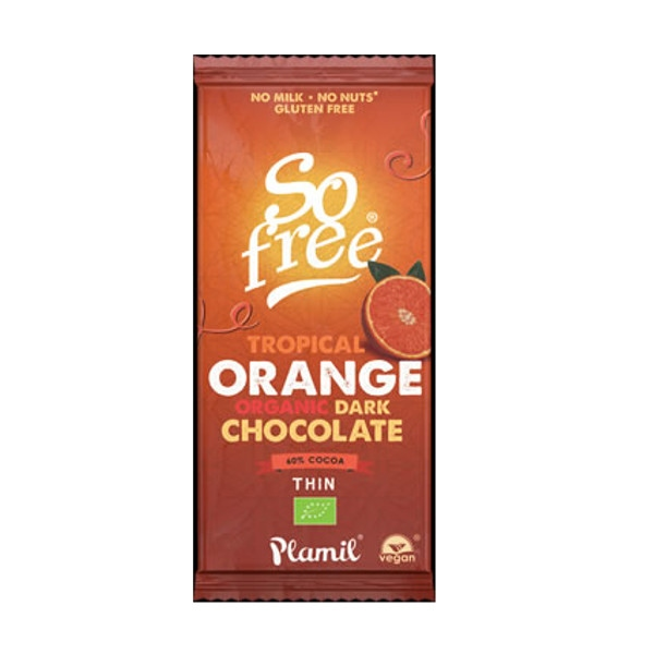Σοκολάτα Υγείας με Πορτοκάλι So Free 80γρ Bio Plamil