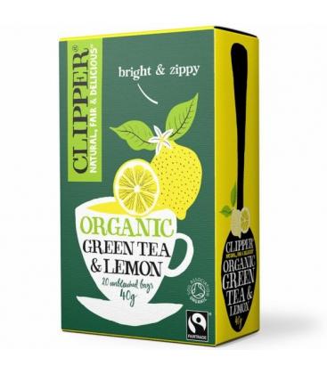 Βιολογικό Πράσινο Τσάι με Λεμόνι 20 Φακελάκια Bio Clipper
