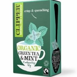 Βιολογικό Πράσινο Τσάι με Μέντα 20 Φακελάκια Bio Clipper