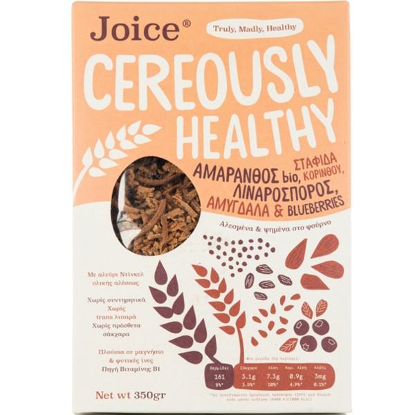 Βιολογικά Δημητριακά Cereously με Αμάρανθο, Λιναρόσπορο & Σταφίδα 350γρ Bio, Ελληνικά, Joice