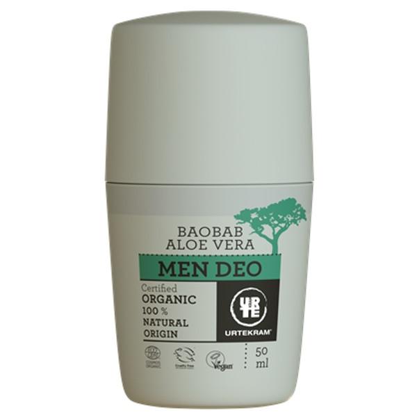 Βιολογικό Αποσμητικό για Άντρες με Baobab & Αλόη 50ml Urtekram