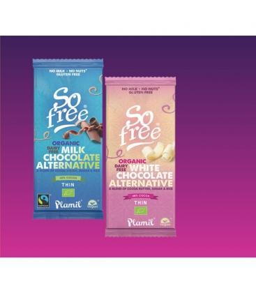 Βιολογική Σοκολάτα Εναλλακτική της Γάλακτος So Free 80γρ Plamil