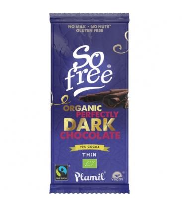 Βιολογική Σοκολάτα Υγείας Perfectly Dark 80γρ 72% Κακάο 80γρ Plamil