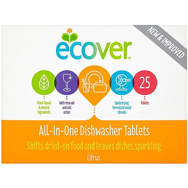 Ταμπλέτες Πλυντηρίου Πιάτων 3 σε 1 25τεμ Ecover